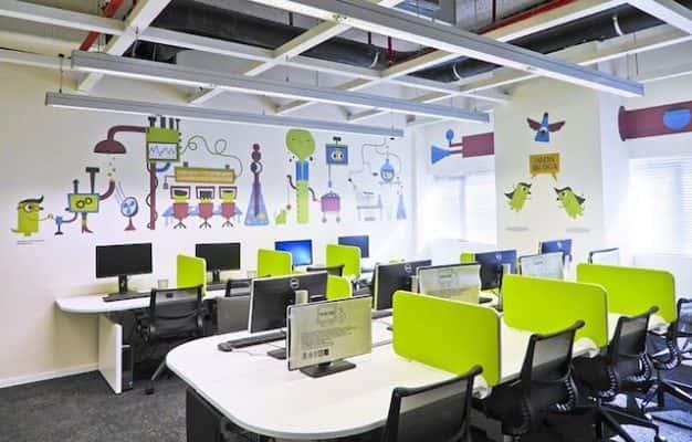 ve tranh tuong van phong 626x400 - Vẽ tranh tường văn phòng đẹp