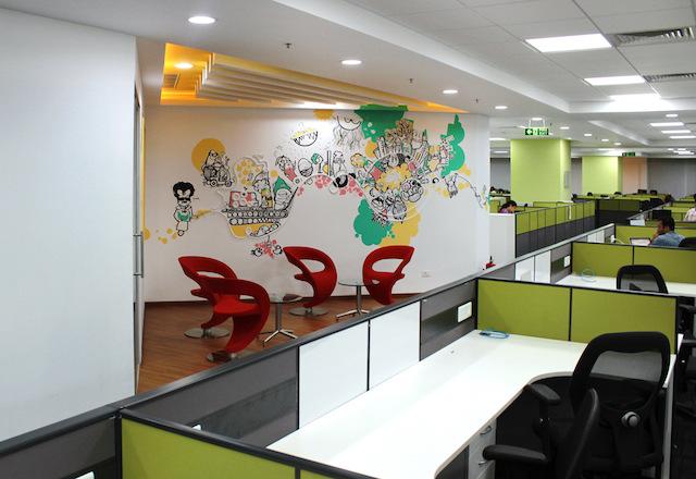ve tranh tuong van phong 7 - Thiết kế nội thất văn phòng đẹp