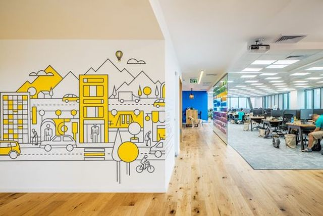 ve tranh tuong van phong dep 10 - Thiết kế nội thất văn phòng đẹp
