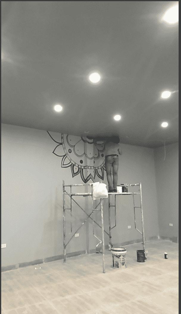 ve tranh tuong - Vẽ tranh tường quán Cafe