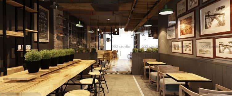 Tư vấn 10 thiết kế nội thất quán cafe tại Lai Châu
