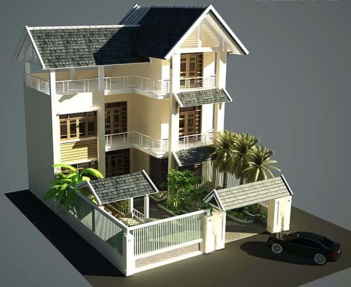 8 - Thiết kế nhà Huế đẹp tối ưu công năng chuẩn phong thuỷ