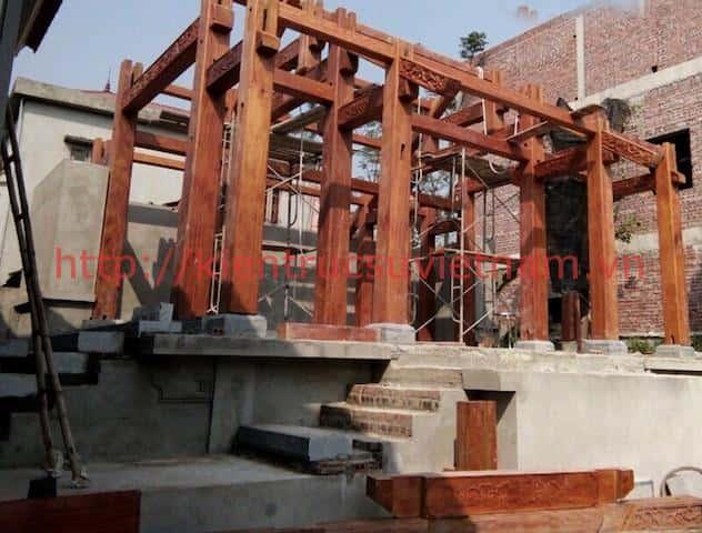 Nha go lim 11 - Thiết kế và thi công nhà gỗ đẹp