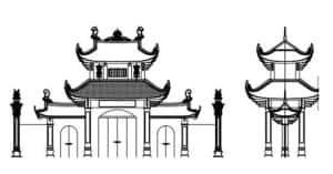 ban ve thiet ke thi cong nha tho ho tai dong anh ha noi 300x157 - Mẫu thiết kế cổng nhà thờ họ đẹp