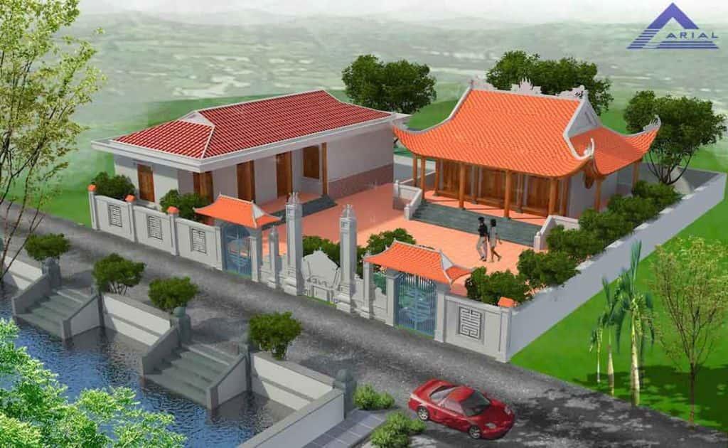cong nha tho ho dep ta001b - Thiết kế nhà thờ họ Vinh, Nghệ An