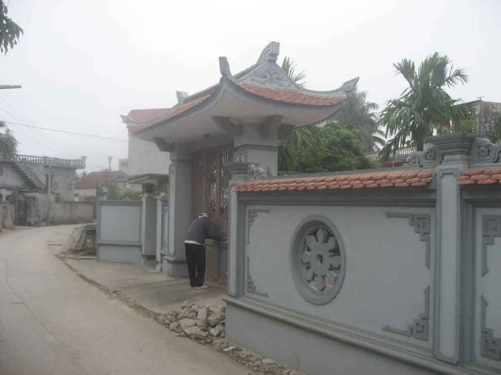 cong nha tho ho dep ta001bds - Thiết kế nhà thờ họ Vinh, Nghệ An