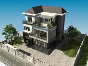 mau biet thu tien giang 300x225 - Mẫu thiết kế biệt thự đẹp ở Tiền Giang