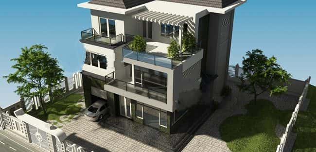 Mẫu thiết kế biệt thự đẹp ở Tiền Giang