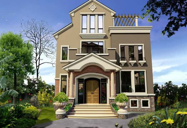 mau nha dep ninh thuan 1 - Mẫu thiết kế nhà đẹp ở Ninh Thuận