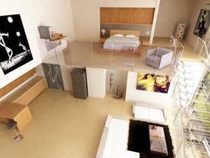 nhà 1 tầng có gác xép 398e64bc3a2eb7d83a0d36428a164d82 GacLung tang KG01 300x225 - Xây nhà 1 tầng có gác lửng (xép) đẹp