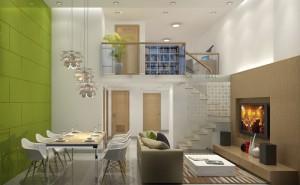 nhà 1 tầng có gác xép gác lửng 2 300x185 - Xây nhà 1 tầng có gác lửng (xép) đẹp
