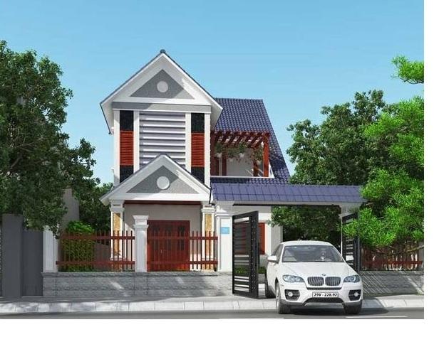 nhà 2 tầng 8x10m 2 tang mai thai dep nhat - thiết kế nhà 2 tầng 8x10m