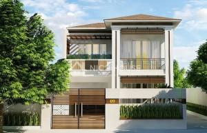 nhà 2 tầng 8x20m