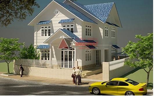 nhà 2 tầng diện tích 100m2 nha mai ngoi 2 tang 3 phong ngu dien tich 100m2 1 - 45 Mẫu nhà 2 tầng mái ngói đẹp được nhiều kts lựa chọn thiết kế