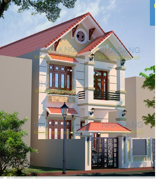 nhà 2 tầng diện tích 100m2 thu ong 2 tang 8x16m bt14050 a 1408676150 - Tư vấn  thiết kế nhà phố mặt tiền 6m