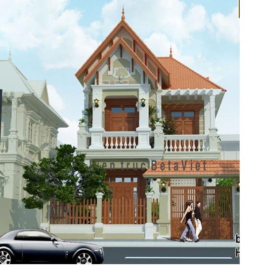 nhà 2 tầng diện tích 100m2 - thiết kế nhà 2 tầng  diện tích 100m2
