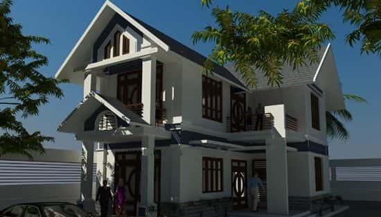 Tư vấn thiết kế biệt thự 2 tầng thanh lịch và hiện đại với gara rộng đẹp