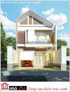 nha 2 tang mat tien 8m dep 3 229x300 - thiết kế nhà 2 tầng 8x10m