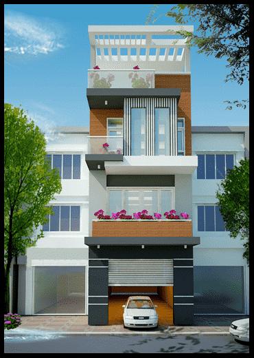 nha 3 tang 1 tum nha ong 3 tang 1 tum co gara 1  - Thiết kế nhà 3 tầng đẹp