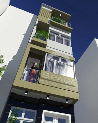 nha 3 tang 1 tum nhaban.com xay nha 3 tang hien dai tren khu dat nho 1279688427 - Thiết kế nhà 4 tầng với 4 phòng ngủ diện tích 5 x 11 m