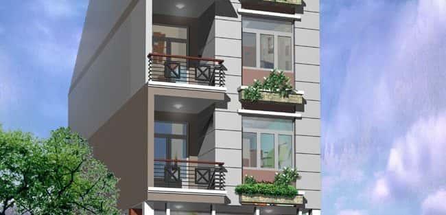 Thiết kế nhà 3 tầng, 3 phòng ngủ trên đất 30 m2