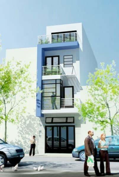 nha 3 tang dep 900 treiu nhapho - Tư vấn thiết kế nhà 3 tầng 40m2