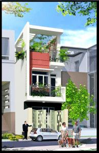 nha 3 tang duoi 1 ty mat tien nha ong 3 tang 35x19m dep 194x300 - Thiết kế nhà 4 tầng với 4 phòng ngủ diện tích 5 x 11 m