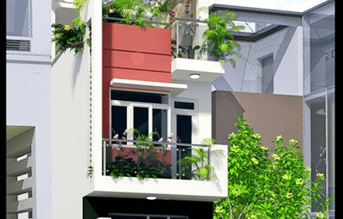 Thiết kế nhà 3 tầng có diện tích 4 x 11,25 m đẹp