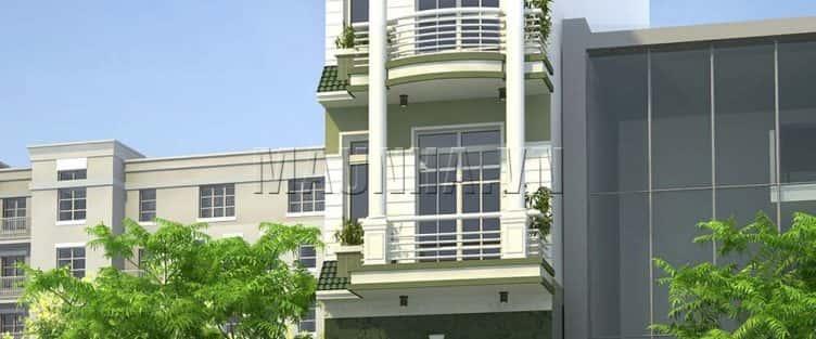 Xây nhà 5 tầng cổ điển