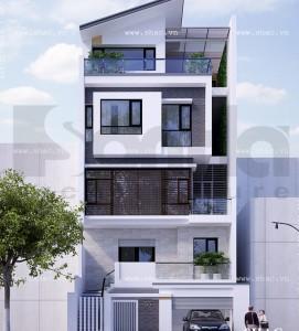 nha pho 5 tang hien dai nhà 2 tầng 8x20m 271x300 - Tư vấn thiết kế nhà 2 tầng 8x20m