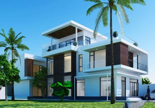 thiet ke biet thu 2 - Mẫu thiết kế nhà 2.5 tỷ đẹp