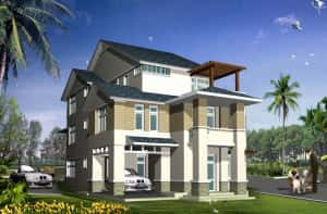 thiet ke biet thu DONG THAP 300x197 - Tư vấn mẫu thiết kế biệt thự đẹp ở Đồng Tháp