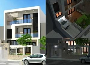 thiet-ke-biet-thu-mini-dep-hien-dai-nhà 2 tầng 8x20m