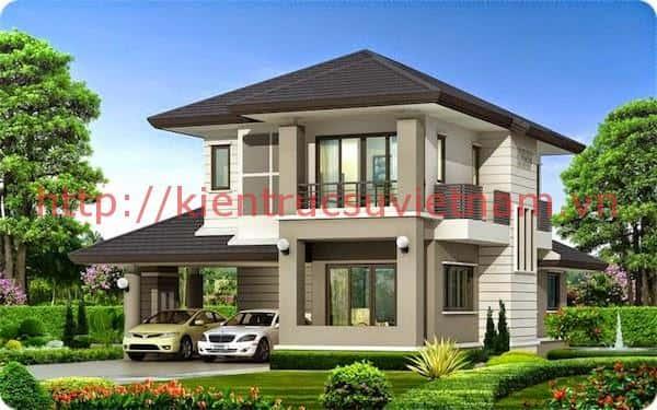 thiet ke nha 2 tang 1 ty 200 trieu 10 - 57 Mẫu thiết kế nhà mái thái đẹp nếu làm nhà các bạn nên tham khảo, mát phù hợp khí hậu nhiệt đới