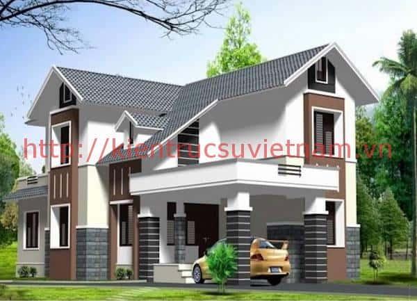 thiet ke nha 2 tang 1 ty 200 trieu 6 - 57 Mẫu thiết kế nhà mái thái đẹp nếu làm nhà các bạn nên tham khảo, mát phù hợp khí hậu nhiệt đới