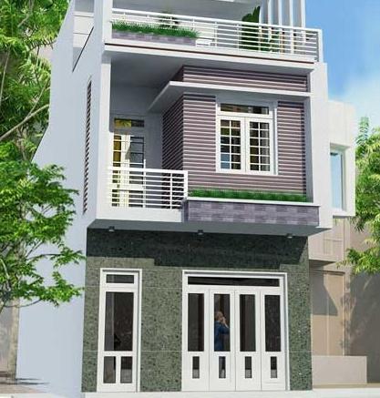thiet ke nha 2 tang 5x12 hien nhà 2 tầng 5x12m - Tư vấn thiết kế nhà 3 tầng 40m2