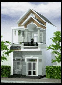 thiet ke nha 2 tang dep 1 218x300 - Thiết kế nhà ở đẹp tại Vinh