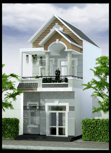 thiet ke nha 2 tang dep 1 - thiết kế nhà 2 tầng 5x18m