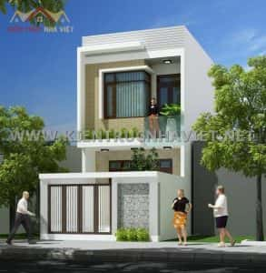 thiet ke nha 2 tang dep 293x300 - Thiết kế nhà ở đẹp tại Vinh