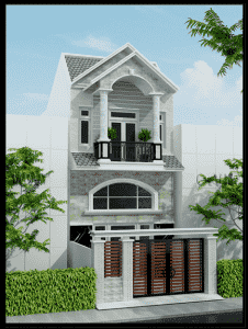 thiet ke nha 2 tang dep 3 226x300 - Thiết kế nhà ở đẹp tại Vinh