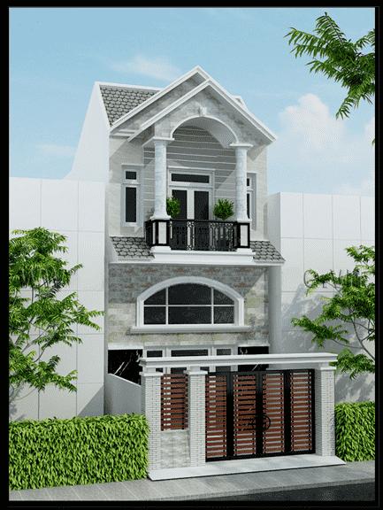 thiet ke nha 2 tang dep 3 - thiết kế nhà 2 tầng 5x18m