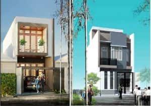 thiet ke nha 2 tang dep 8 300x210 - Thiết kế nhà ở đẹp tại Vinh