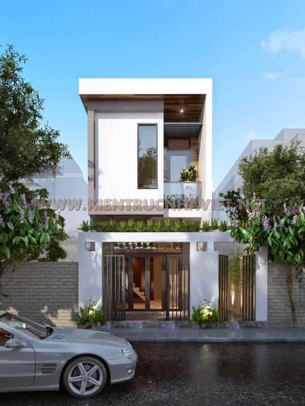 thiet ke nha 2 tang dep 9 - thiết kế nhà 2 tầng 5x18m