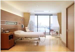thiet ke noi that benh vien Giuong benh Vinmec 300x208 - Thiết kế nội thất bệnh viện