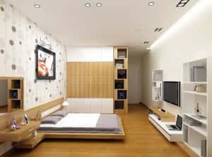 thiet ke noi that chung cu 89m2 noi that phong ngu 4 300x223 - Tốp 100 mẫu  thiết kế nội thất phòng  ngủ đẹp nhất 2016