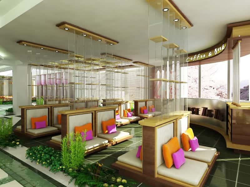 thiet ke noi that quan ca phe cafe sach 1 - Các dự án thiết kế quán cafe phong cách hiện đại đã thực hiện