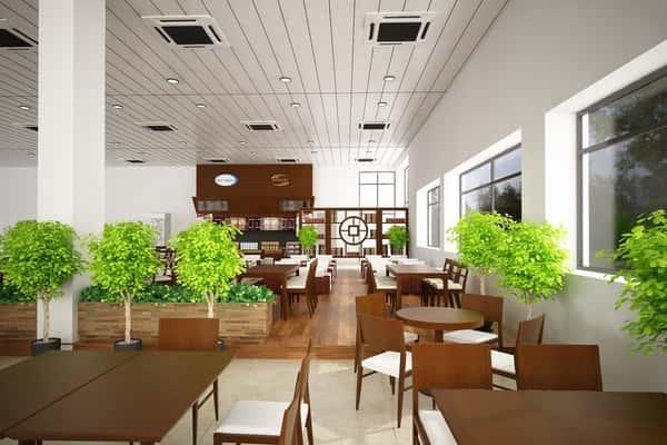 thiet ke noi that quan ca phe cafe trung nguyen san bay pleiku 1 - Các dự án thiết kế quán cafe phong cách hiện đại đã thực hiện
