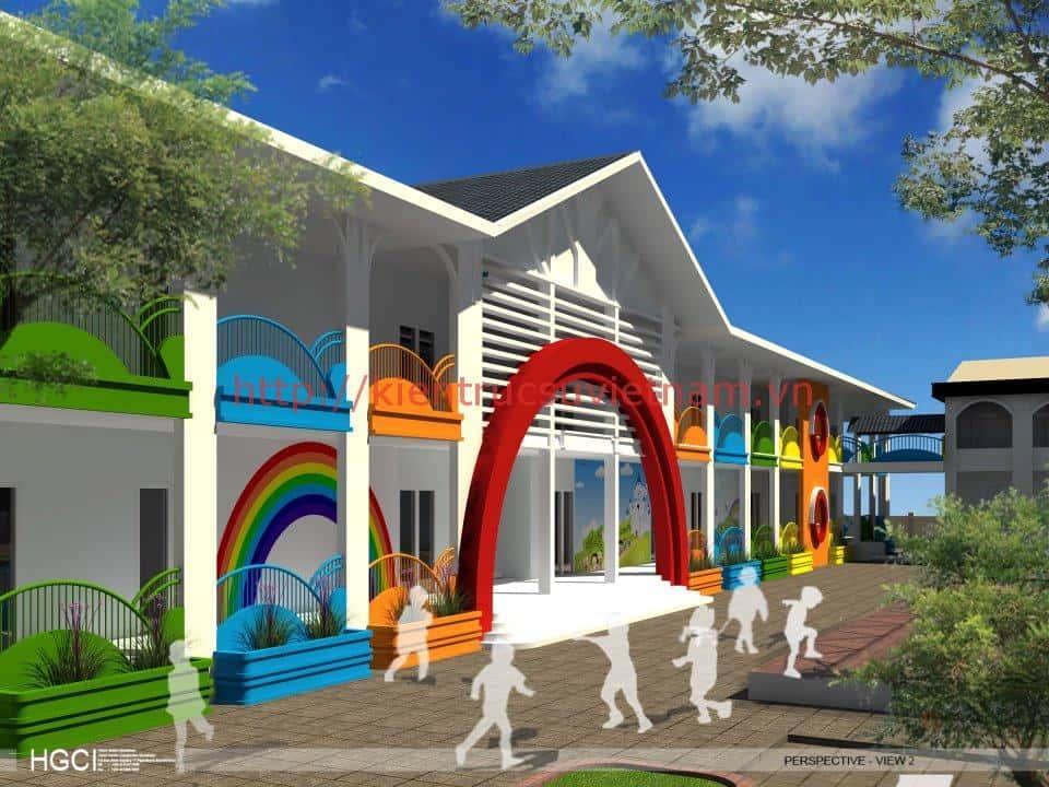 thiet ke noi that truong mam non Kieu Ky 01 - Thiết kế trường mầm non tư thục, mầm non quốc tế, công lập