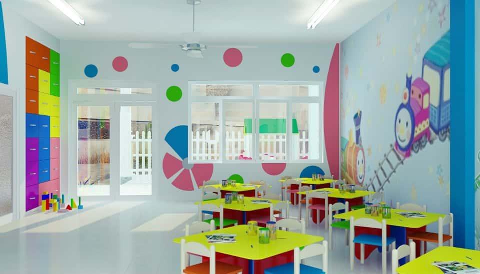 thiet ke truong mam non 012013NoiThatMNBeYeu9 - Thiết kế trường mầm non tư thục, mầm non quốc tế, công lập