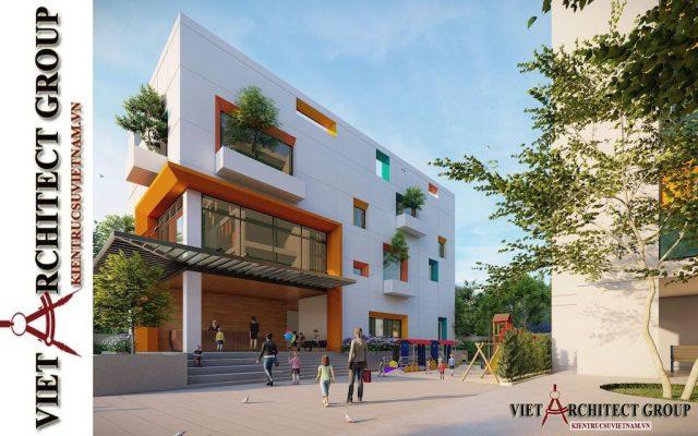 thiet ke truong mam non viet architect group 2021 4 e1622806624440 - Thiết kế trường mầm non đẹp